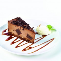 Gluten Free Belgian Chocolate Cheesecake
