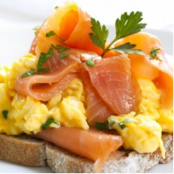 Scrambled Eggs & Smoked Salmon